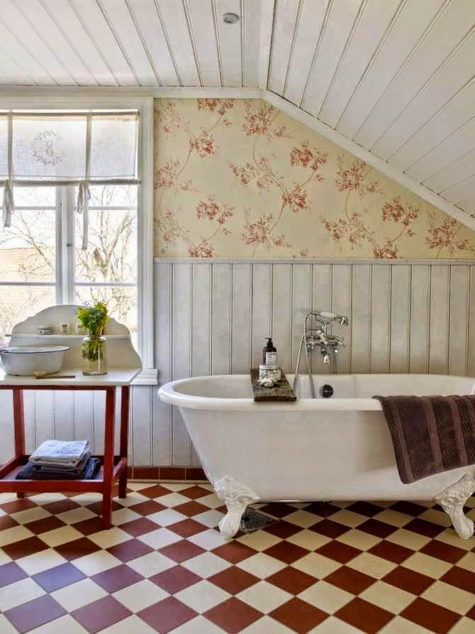 364 best country cottage bathroom images on pinterest for Country cottage bathroom ideas