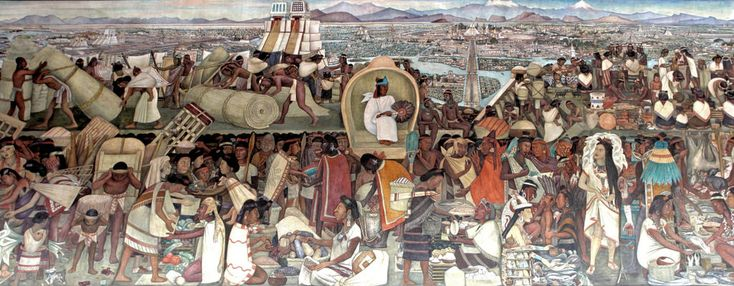 The Great Tenochtitlan by Diego Rivera