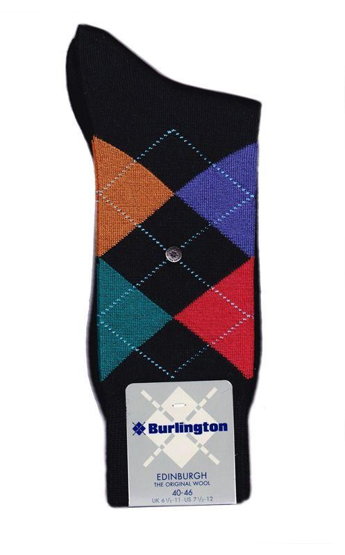 Ref: 21182 3027. Clásico calcetín de rombos confeccionado en LANA VIRGEN, muy suave y cálida. Los mejores calcetines del mercado en http://www.varelaintimo.com/94-calcetines-de-lana