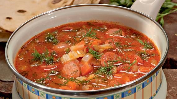 Чечевичная похлебка с сосисками. Пошаговый рецепт с фото, удобный поиск рецептов на Gastronom.ru