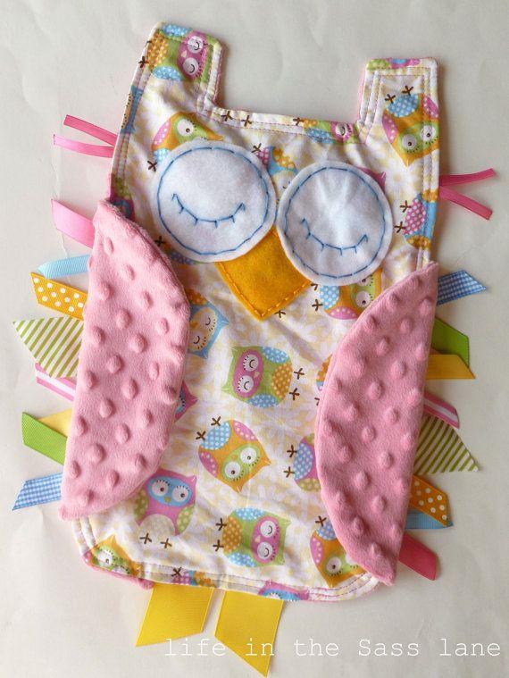 Owl Ribbon Tag Baby Blanket - Etsy