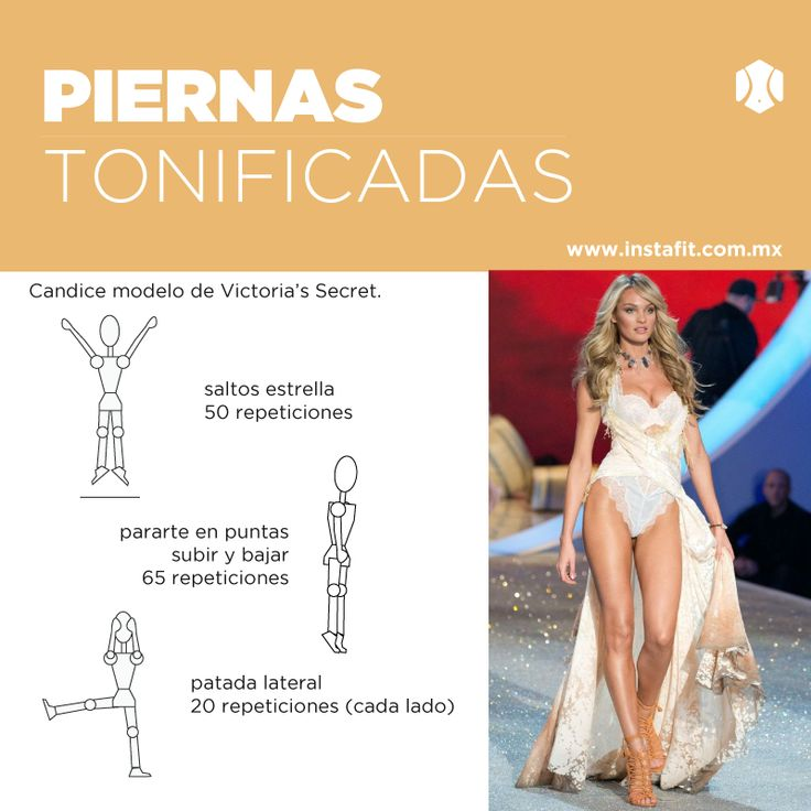 Rutina para piernas tonificadas de Victoria's Secret. #VSFashionShow Candice Swanepole