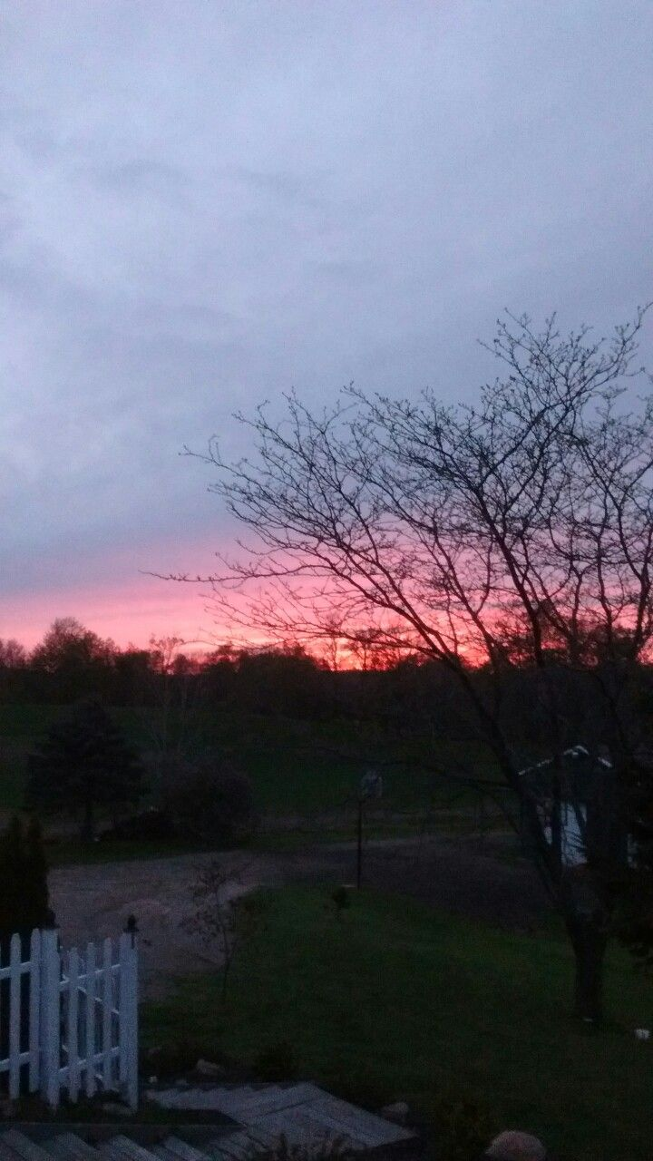 What a Beautiful sunset tonight in MI!!