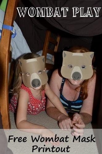 Printable wombat mask - Wombat unit