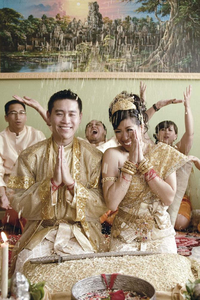 The Golden Sword: Cambodian Wedding Traditions | letterpress wedding invitation blog