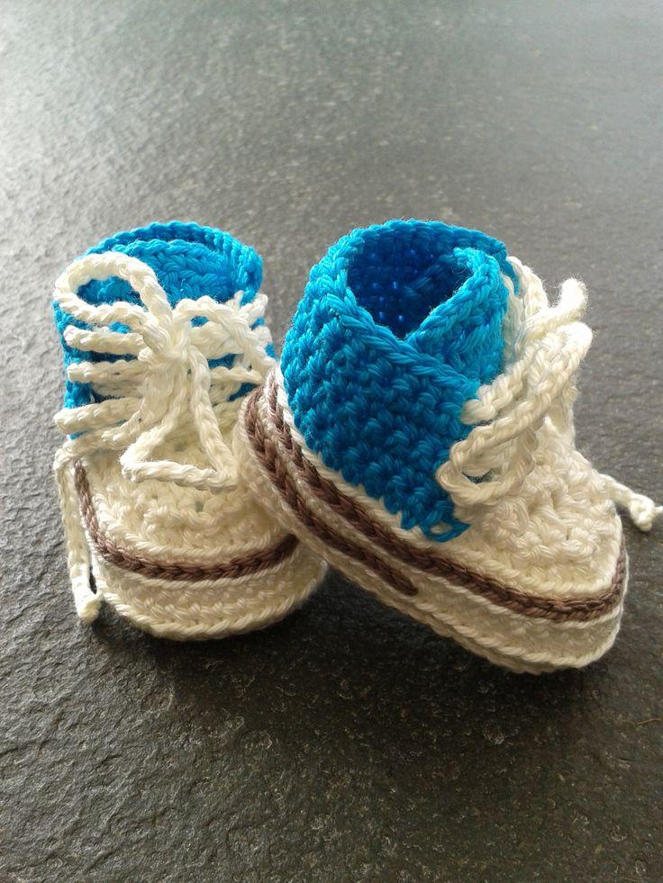 Free Crochet Pattern For Vans Slippers : Made by Yvonne van Gompel Haken van Yanna Crochet Baby ...