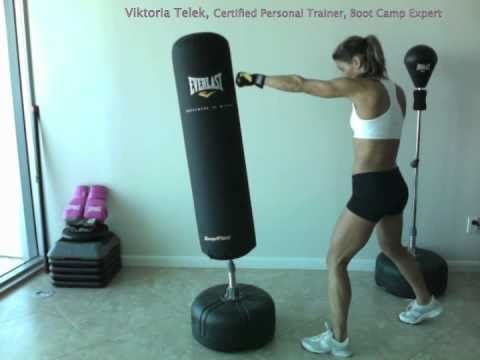 Boxing Everlast bag workout with Viktoria Telek