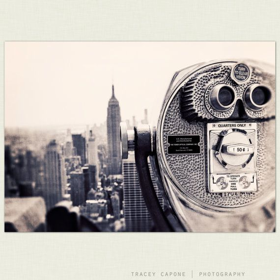 New York City Photography - Empire State Wall Art - NYC - Viewpoint - black and white, viewfinder, New York City home decor, Etsy Wall Decor. $30.00, via Etsy.