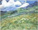 """van Gogh, Mountainous Landscape Behind Saint-Paul Hospital:  """"We spend our whole lives in unconscious exercise of the art of expressing our thoughts with the help of words."""""""