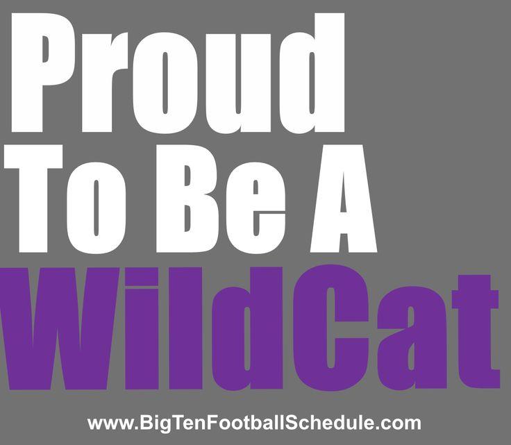 Proud to be a Wildcat!! http://www.bigtenfootballschedule.com/northwestern_football_schedule.html