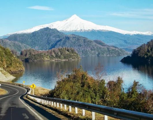 Choshuenco Volcano and Panguipulli Lake, Chile