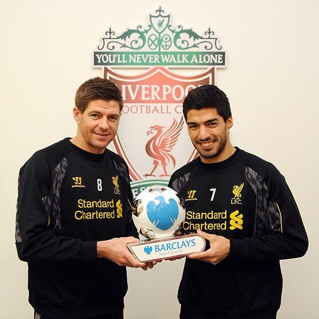 Luis Suarez And Steven Gerrard Reunited: 17 Best Images About Soccer/mostly LIVERPOOL! On Pinterest