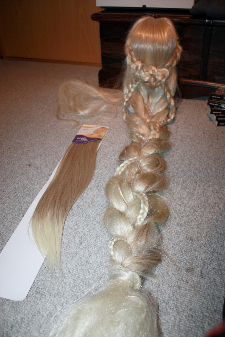 how to make a rapunzel braid out of yarn