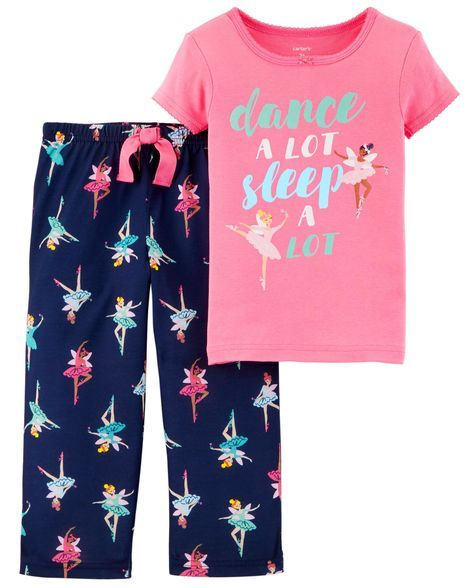 5bc470a17 2-Piece Ballerina Cotton   Poly PJs in 2019