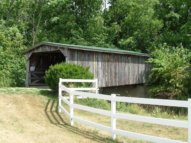 Elk Creek Covered Bridge, west of Peck in Elk Township of Sanilac County, Michigan