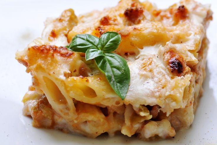Rigatoni...poulet, épinards et champignons