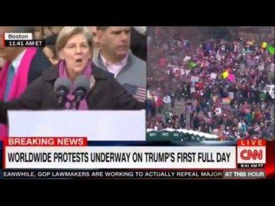 Sen Elizabeth Warren Full Speech at Women March Against President Trump Protest #news #alternativenews