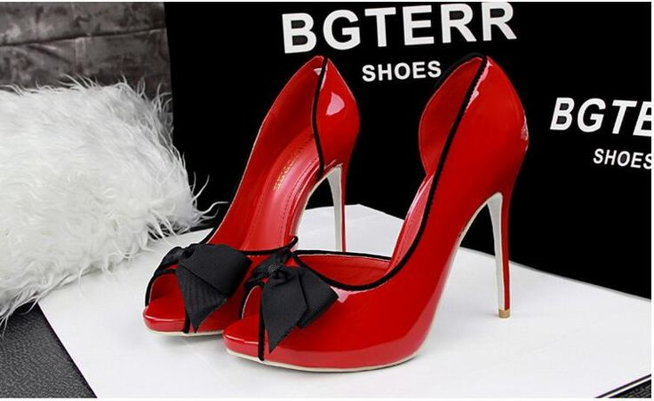Find More Women's Pumps Information about 2016 Sexy High heels for women's shoes high with waterproof light mouth bowknot single hollow out fish mouth shoes,High Quality shoe insoles heels,China heel shoes for women Suppliers, Cheap shoes french from GengNan store on Aliexpress.com