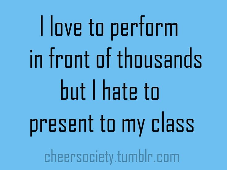Omg...this is 100% true...I get sweaty palms and everything:)