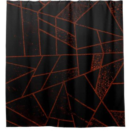 Abstract #948 Red Shower Curtain - black gifts unique cool diy customize personalize