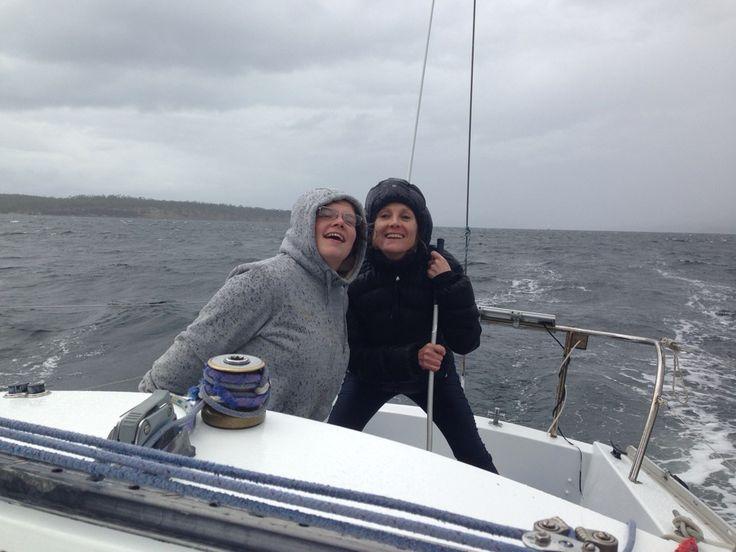 Sailing the D'Entrecasteaux Channel, Tasmania, Summer 2017.