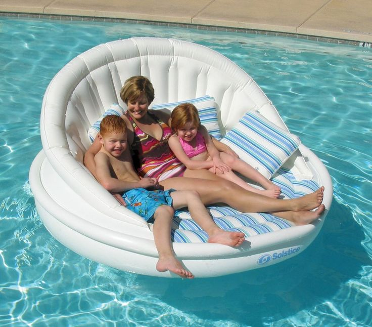 Inflatable Pool Lounge Chair Float Raft Boating Sunbathing Water Toys Lake