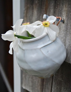 small hanging vase