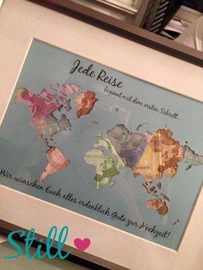 Geldgeschenke - Individuelle Originelle Geschenke Geld verpacken, Geschenke für Weltenbummler / wrapping idea for money gifts, gifts for traveller made by Still-Love via DaWanda.com