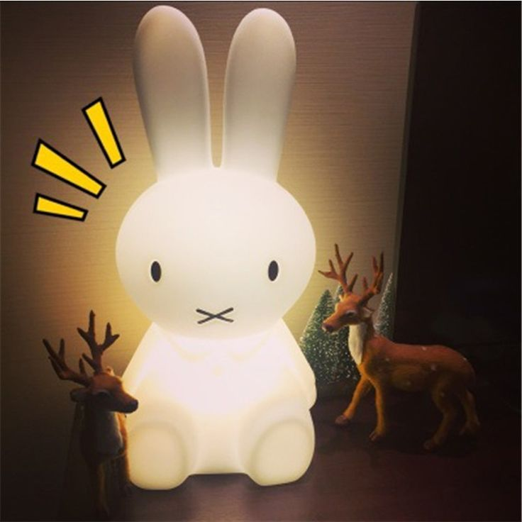 Cheap light night, Buy Quality light love directly from China light rabbit Suppliers: 2016 Baby Bed Room Rabbit Night light 50 cm Anti-fall Children Lamp Christmas Gift Bedside Decoration Kids Lovely Lights