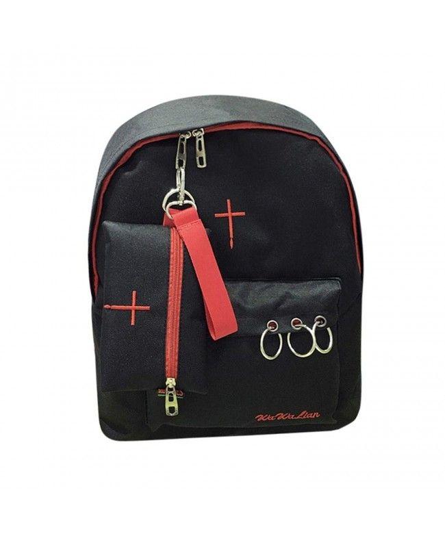 Women's Bags Responsible Backpack Bag Rivet Pu Skull Womens Black Women Girl