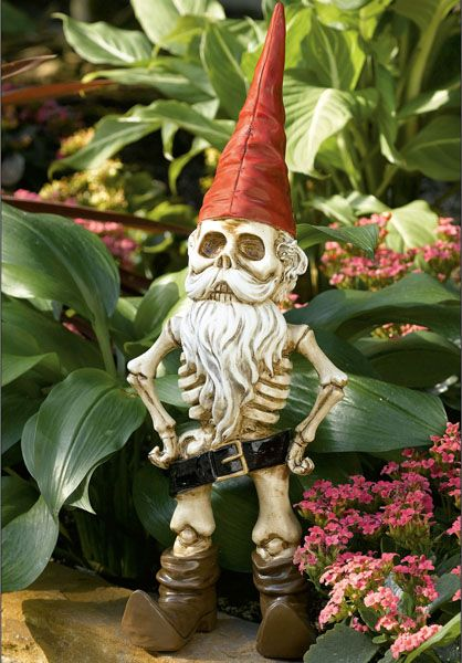 Funny Garden Gnomes | garden gnome is known to be pudgy and jolly-looking, but Skel-E-Gnome ...