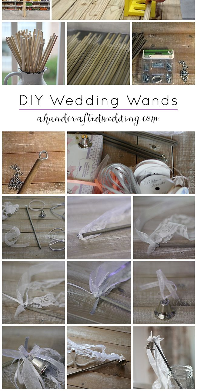 How to Make Ribbon Wedding Wands. Check out this tutorial on how to make DIY Wedding Wands for your ceremony or reception exit. {ahandcraftedwedding.com}