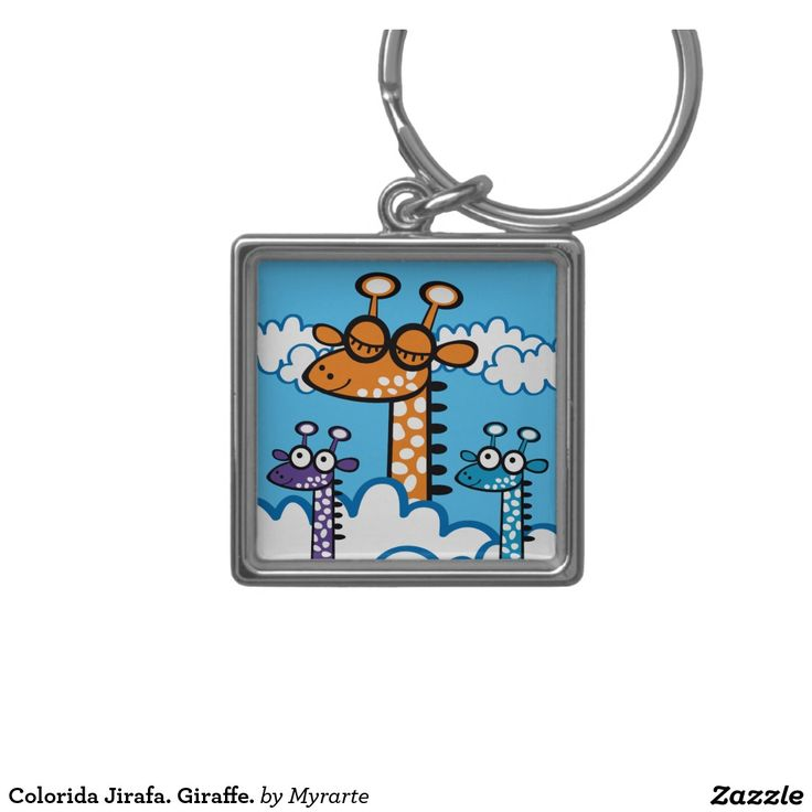 Colorida Jirafa. Giraffe. Producto disponible en tienda Zazzle. Product available in Zazzle store. Regalos, Gifts. Link to product: http://www.zazzle.com/colorida_jirafa_jirafa_llavero_cuadrado_plateado-146795217335869067?lang=es&CMPN=shareicon&social=true&rf=238167879144476949 #llavero #KeyChain #jirafa #giraffe