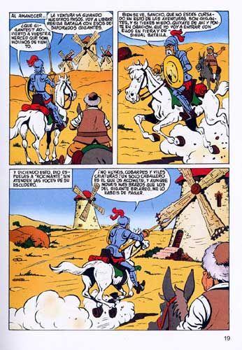 Vamos a leer una adaptación en cómic de las aventuras de Don Quijote. ¿Te atreves a recrear tu aventura favorita con una viñeta?