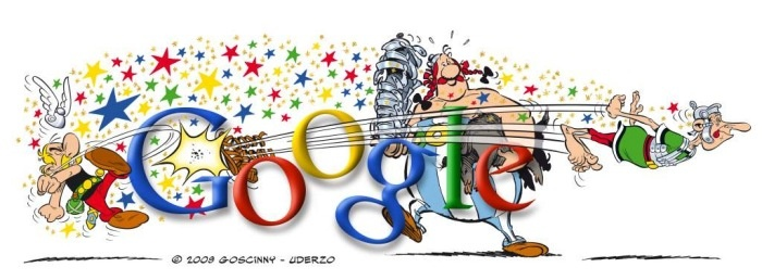 Google's homage to Asterix and Obelix. Just fabulous!