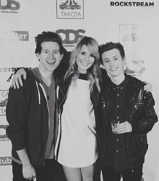 Ricky Dillon, Grace Helbig and Troye Sivan.