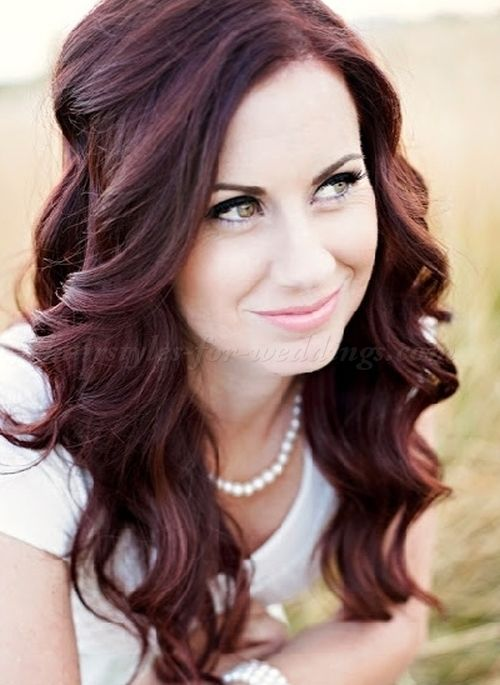 all down bridal wedding hairstyles - all down hairstyle for weddings