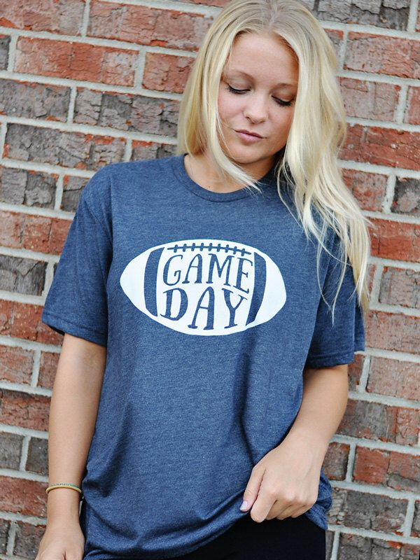 GAME DAY Football Shirt - Women's football T-shirt by shopsproutboutique on Etsy https://www.etsy.com/listing/474467103/game-day-football-shirt-womens-football