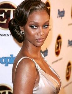 Tyra Banks Married | Tyra Banks Updo - Wedding hairstyle ideas