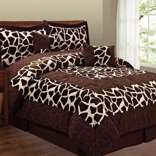 Giraffe Print bedroom decorations | Brown Zebra Print Bedding