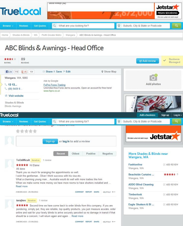 abc blinds and abc blinds reviews must not have abc blinds complaints >> abc blinds --> http://www.truelocal.com.au/business/abc-blinds-and-awnings-head-office/wangara