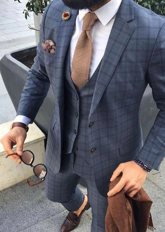 Herren Braun Hochzeit Brautjungfernkleid Krawatte für Anzüge