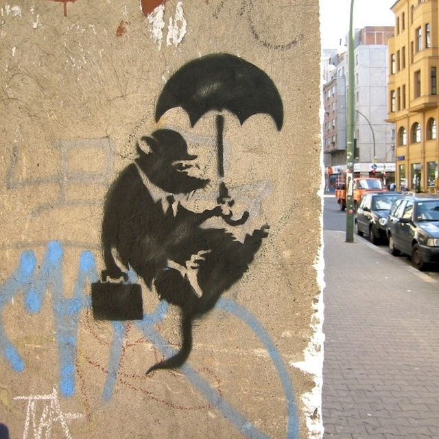 street art . Banksy . Rat. 000
