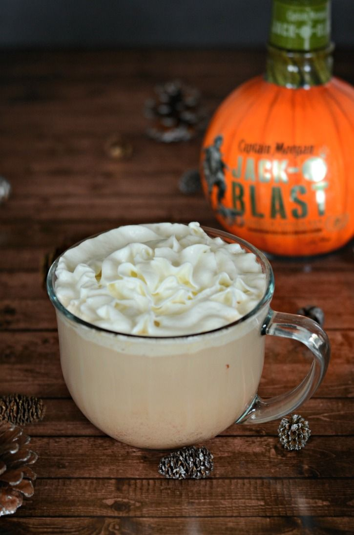 Captain Morgan Jack-O-Blast is a delicious addition to a warm mocha. Enjoy this delicious cocktail on a stormy evening while bundled up inside.
