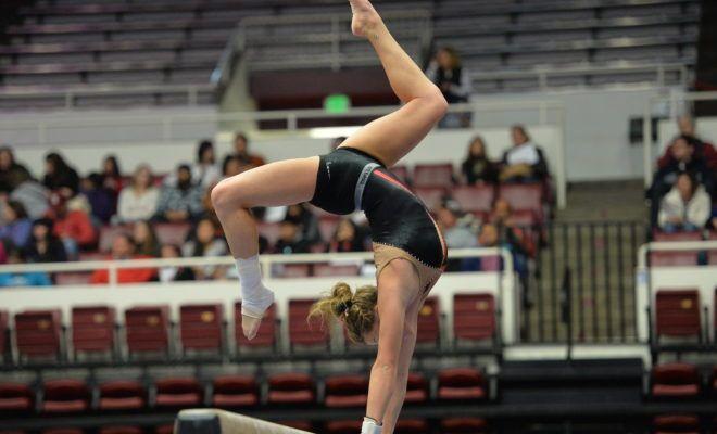 """SEC Network's 2017 schedule features the most live meets ever slated for television, with 18 meets scheduled. In addition, SEC Network's """"Friday Night Heights"""" gymnastics series expands to eight consecutive weeks of high-flying competition from across the conference. Action begins with a Friday, Jan. 6 matchup of Georgia at LSU and continues with doubleheaders each Friday through February 24."""