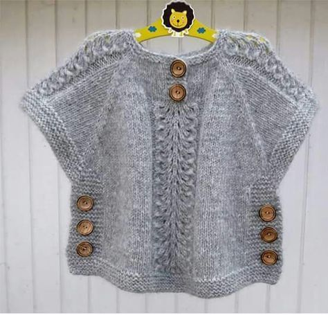 """1,338 Followers, 226 Following, 281 Posts - See Instagram photos and videos from BAL BEBE  LEYLA PALAZOĞLU (@balbebe_leyla_palazoglu) [   """"knit sweater tunic poncho with side buttons kids sweater"""",   """" Idea for poncho like top"""",   """"j aimerais avoir les explications sv p merci"""",   """"haven"""