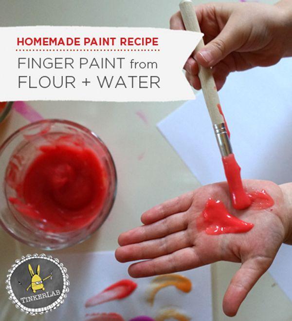Makkelijk zelfgemaakte vingerverf | Tinkerlab.com