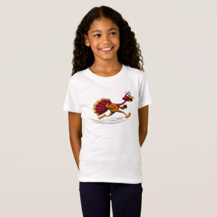 Turkey Running T-Shirt - thanksgiving tshirts custom unique happy thanksgiving holiday celebrate