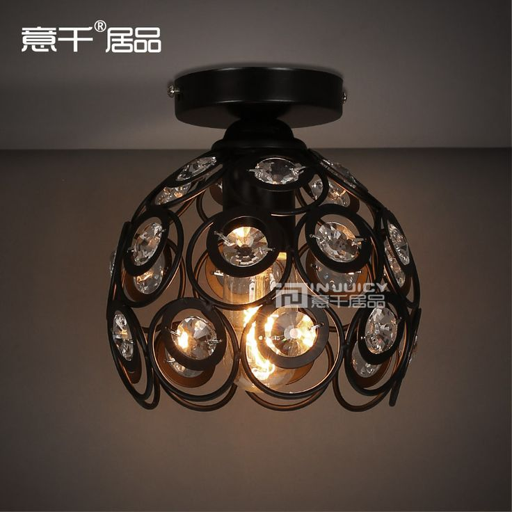 Vintage Style Edison Bulb With High Quality Clear K9 Crystal Ceiling Lamp Lighting #Affiliate