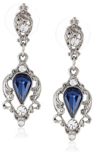 "I have these now.  Downton Abbey ""Jeweled Heirlooms Boxed"" Silver Tone Belle Epoch Pearshape Blue Sapphire Drop Earrings Downton Abbey http://smile.amazon.com/dp/B00EL3IP90/ref=cm_sw_r_pi_dp_Vnwaub166WGG4"
